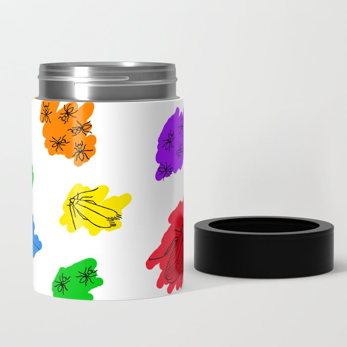 Uninvited Guests - Black Outline Can Cooler
