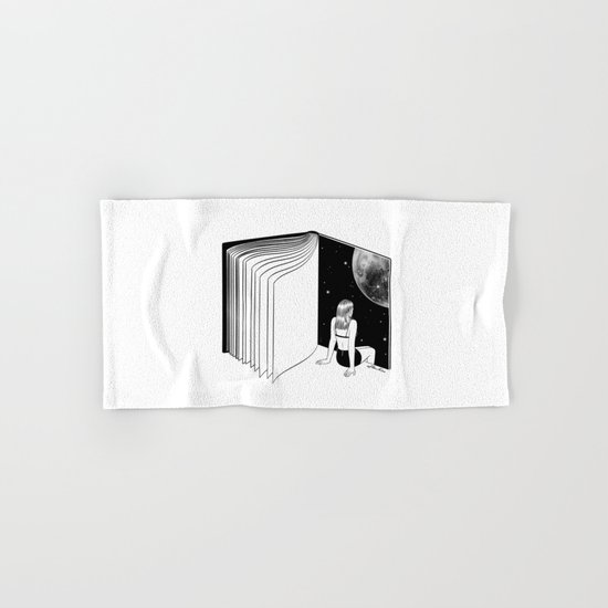 Reading is Dreaming with Your Eyes Open Hand & Bath Towel