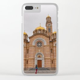 Banja Luka Cathedral in Bosnia and Herzegovina Clear iPhone Case