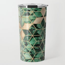 Leaves And Cubes Travel Mug