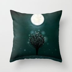 the midnight tree Throw Pillow