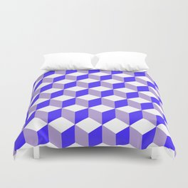 Diamond Repeating Pattern In Nebulas Blue and Grey Duvet Cover