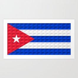Bandera Cuba Art Print