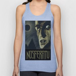 Nosferatu, Vintage Horror Movie Poster Unisex Tank Top