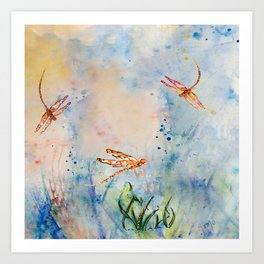 Spirit of the Dragonfly Art Print