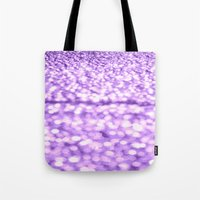 glitter Tote Bags featuring Purple Glitter Sparkles by Whimsy Romance & Fun