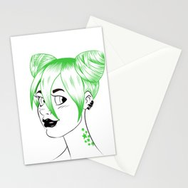 Sheena is... green Stationery Cards