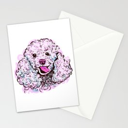 The happy Poodle Love of My Life Stationery Cards
