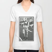 niall horan V-neck T-shirts featuring Niall Horan; Better Than Words by Madison Neumann