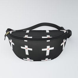 Christian Cross 28 with heart Fanny Pack