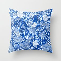 Blue Whirlpool Throw Pillow