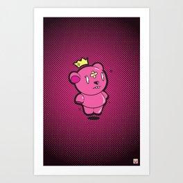 Pink Dead Bear Art Print