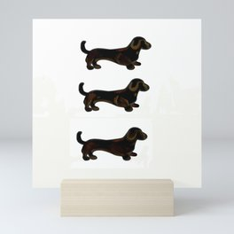 Black and Tan GO - Dachshund Trio Mini Art Print