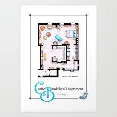 Carrie Bradshaw Apartment as a poster Art Print