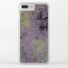 Darkened Sky - Textured, abstract painting Clear iPhone Case