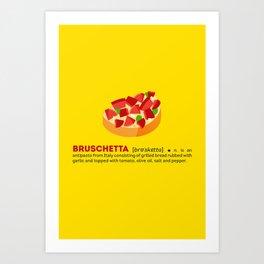 Bruschetta su Giallo Art Print