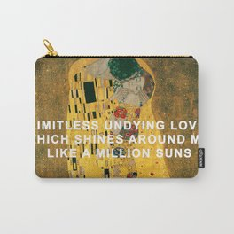 The Kiss Across the Universe Carry-All Pouch