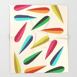 Feathers II Cascading Colors Throw Blanket