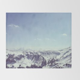 The alps Throw Blanket