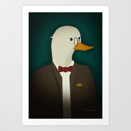 Portrait Canard Art Print
