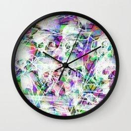 Rock n' roll skulls Wall Clock