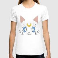 sailormoon T-shirts featuring Artemis - Sailor Moon by Studio Momo╰༼ ಠ益ಠ ༽