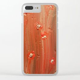 Blister blooms Clear iPhone Case
