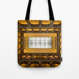 Amsterdam Shopping Center Lobby Architecture Tote Bag