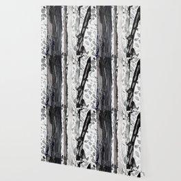 Rainbow Eucalyptus Graffiti artist tree from shedding bark South Pacific Black and White Night Wallpaper