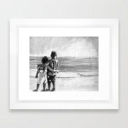 Friends Forever - Kids on the Beach  Framed Art Print