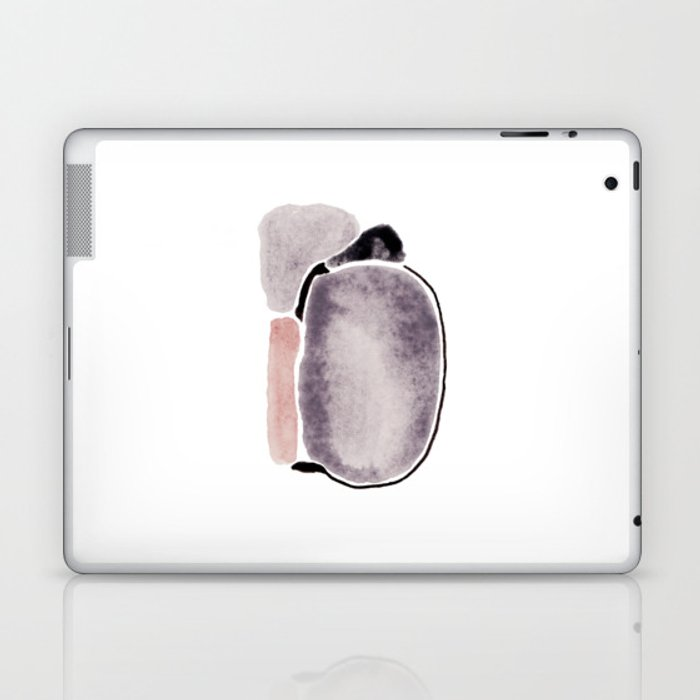 Abstract Stones painted in watercolor Laptop & iPad Skin