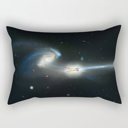 Colliding galaxies, Mice Galaxies, spiral galaxies in constellation Coma Berenices. Rectangular Pillow