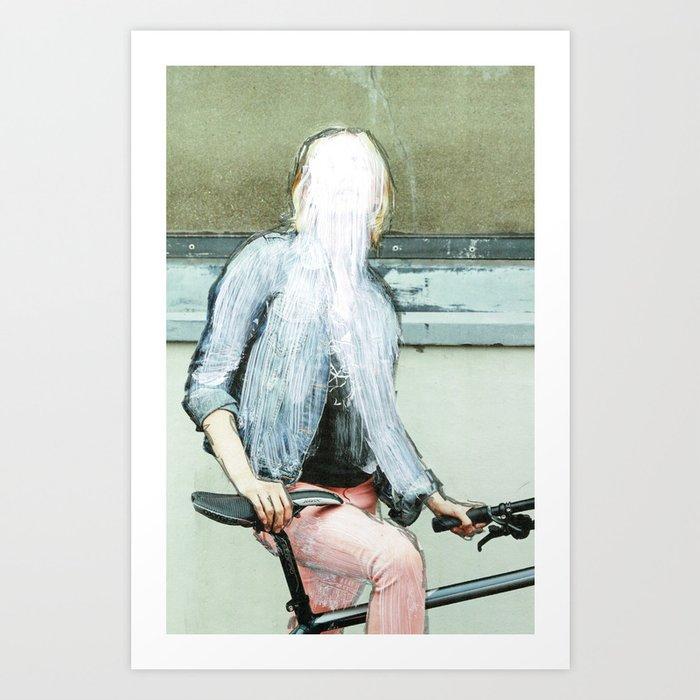 Sie hat die Nase gestrichen voll · Lost woman Art Print