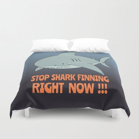 Stop shark finning Duvet Cover