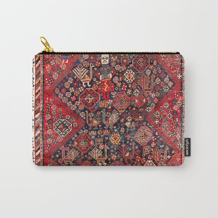 Qashqa'i Fars Southwest Persian Nomad Rug Print Carry-All Pouch