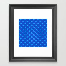 Dogs-Blue Framed Art Print
