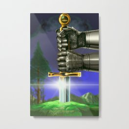 Sword in the Stone Metal Print