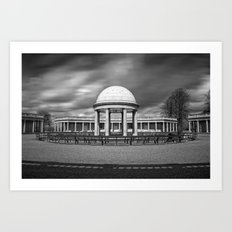 Bandstand at Eaton Park, Norwich, Norfolk Art Print