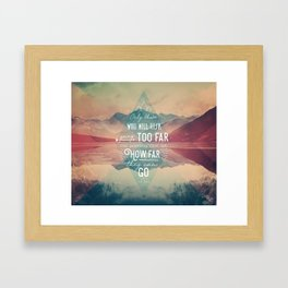 Adventure&Mountain Framed Art Print