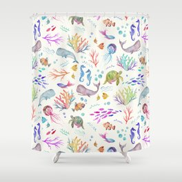 Flip & Flounder Shower Curtain