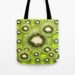 GREEN KIWI SLICES MODERN ART Tote Bag