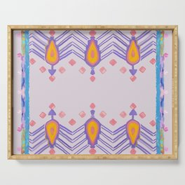 Painted Indian Tribal Pattern Dusky Pink Serving Tray