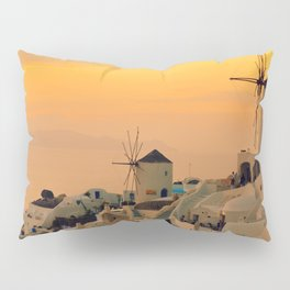 Sunset in Oia, Santorini Pillow Sham
