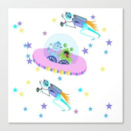 Outerspace Traffic Jam Canvas Print