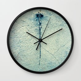 Turquoise Grunge Texture  2 Wall Clock