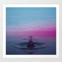 Purple Gives Way To Blue Art Print