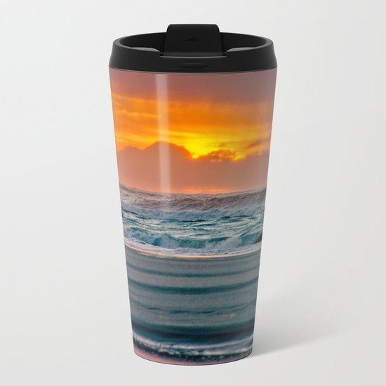 Ocean Sunset - Pacific Coast Highway 101 Metal Travel Mug