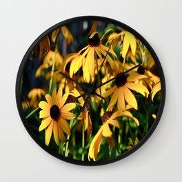 Black and Yellow. Wall Clock