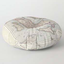 Bella Italia Vintage Map Of Italy Floor Pillow