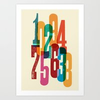 numbers Art Prints featuring Numbers by Marco Campedelli